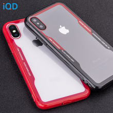 IQD Case For Apple iPhone X 8 7 6 6s Plus Cover Clear Transparent Ultra Thin Back Full Protective Hard Shell TPU Fitted Case X 8 w 1 0 3mm ultra thin protective pc back case cover for iphone 6 transparent grey
