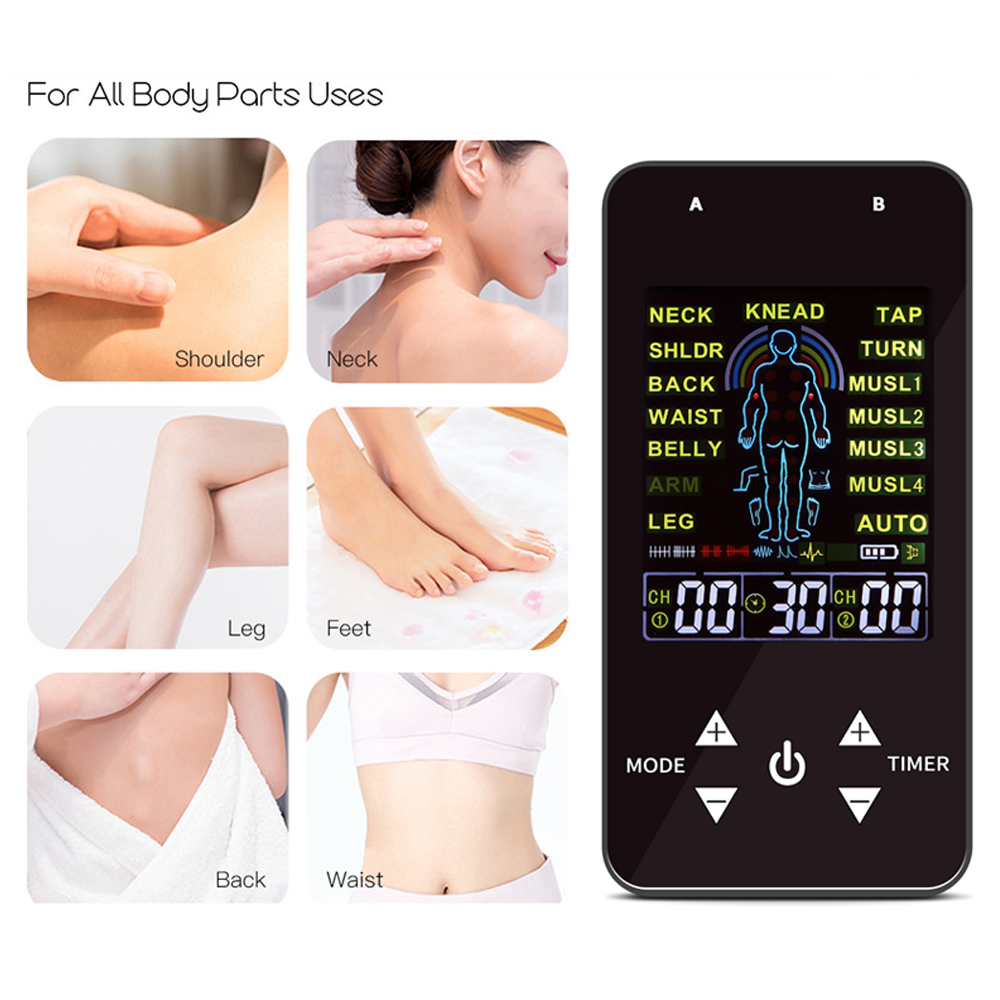 Massage Body Electrical Muscle Stimulator Massager Low Frequency Pulse Acupuncture Therapy Machine Slimming Body Shaper(China)