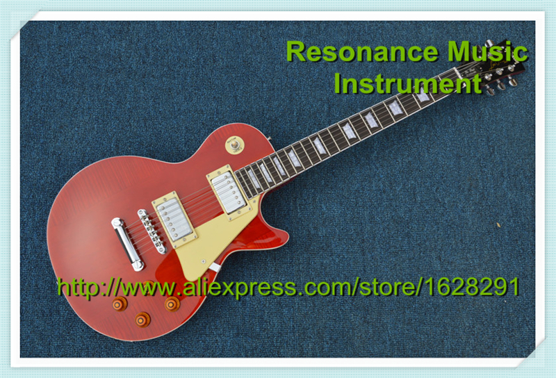 Custom Shop Red Tiger Grain Finish Harrison Clapton 1957 R7 LP Standard LUCY Signature Guitar China In Stock все цены
