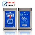 Бесплатная Доставка 32 МБ КАРТЫ ДЛЯ GM TECH2 6 видов программного обеспечения оригинального для gm tech 2 32 МБ карты 32 МБ Памяти Tech 2 карты