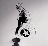 Removable Movie Captain America Vinyl Decal Superhero Wall Sticker Marvel Home Living Room Decor Vinilos Kids