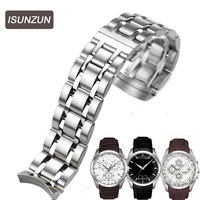 ISUNZUN Men's Watch Bands For Tissot 1853 Qutub T035 Strip Steel Watch Strap T035627A High Quality Watchband Watches Accessories