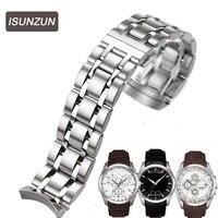 Isunzun Для мужчин смотреть полосы для Tissot 1853 Кутуб T035 полосы Сталь ремешок t035627a высокое качество ремешок Аксессуары для часов
