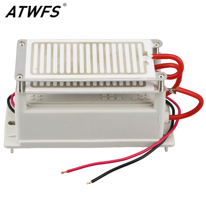 ATWFS 10g Ozone Generator 220V Double Integrated Long Life Ozone Ceramic Plate Ozonizer Air Cleaner Odor Remover Sterilizer new ozone generator 7g 220v 2 pcs 3 5g long life ceramic plate ozone generator accessory ozonator