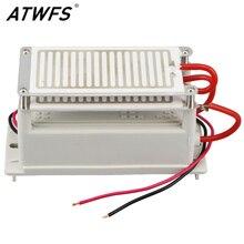 ATWFS 10g Générateur D'ozone 220 V Double Intégré Longue Vie D'ozone Plaque De Céramique Ozoneur Filtre À Air Désodorisant Stérilisateur