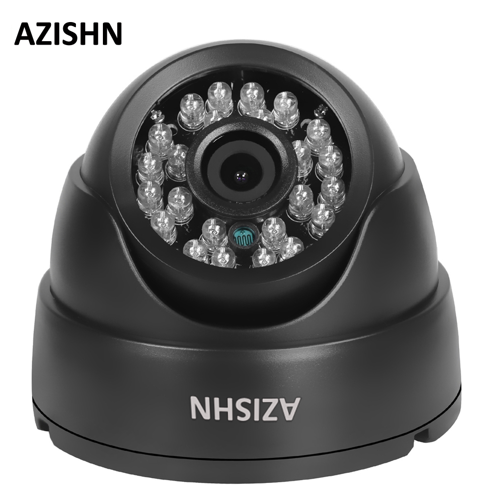 AZISHN Surveillance IP Camera H.264 FULL HD 1080P 2.0 Megapixel onvif HI3518E 24IR DOME Security CCTV Camera  DC12V/POE48V new waterproof ip camera 720p cctv security dome camera video capture surveillance hd onvif cctv infrared ir camera outdoor