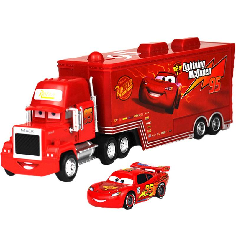 2pcs/set Disney Pixar Cars Lightning McQueen Jackson Storm Ramirez Mack Uncle Truck Toy Car Action Figures Toy For Kids Car Gift