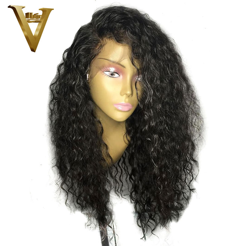 V Hair Curly Lace Front Human Hair Wigs For Women 8 26 Inches Brazilian Remy Hair