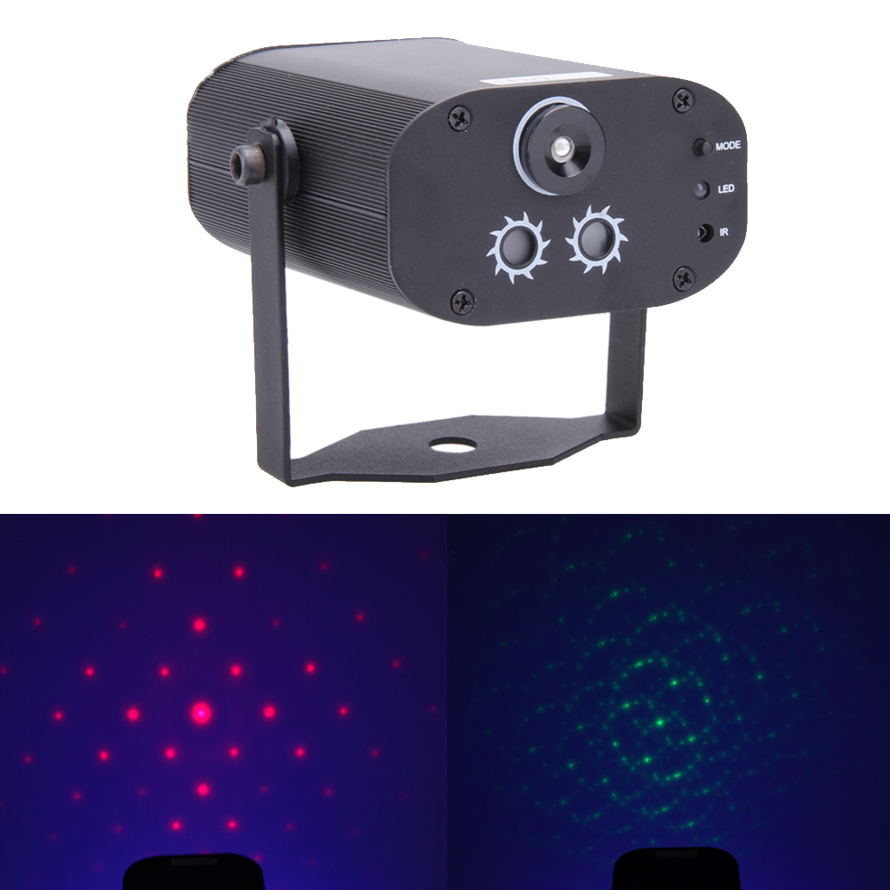 3 Lens 40 Patterns Remote Control Mini Stage Light LED DJ Stage Lighting Effect For party home decoration