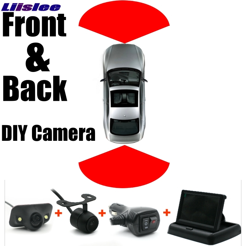 Car Front & Rear Camera Cigarette Power Variable Channel Blind Spots Invisible Areas Flexible Copilot Monitor Camera View System xy 3026 car front and rear view camera control box system switch black