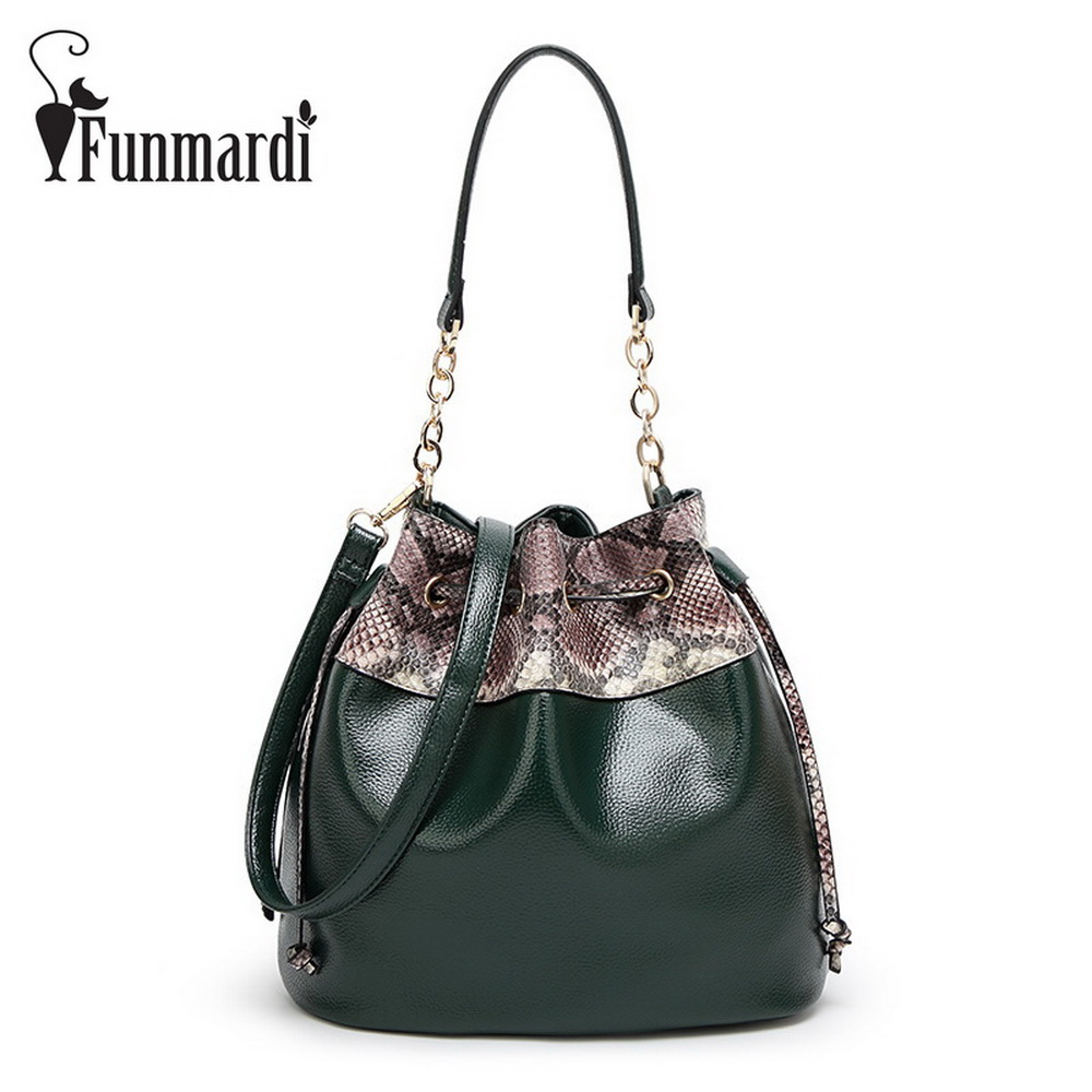 Hot sale Luxury Serpentine PU Leather Bucket bags Fashion women bags Female leather handbags star style Shoulder Bag WLHB1524 fashion leather handbags luxury head layer cowhide leather handbags women shoulder messenger bags bucket bag lady new style