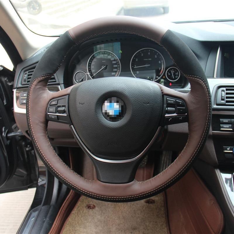 Savanini Car Styling New Anti Slip Swede Leather Steering Wheel