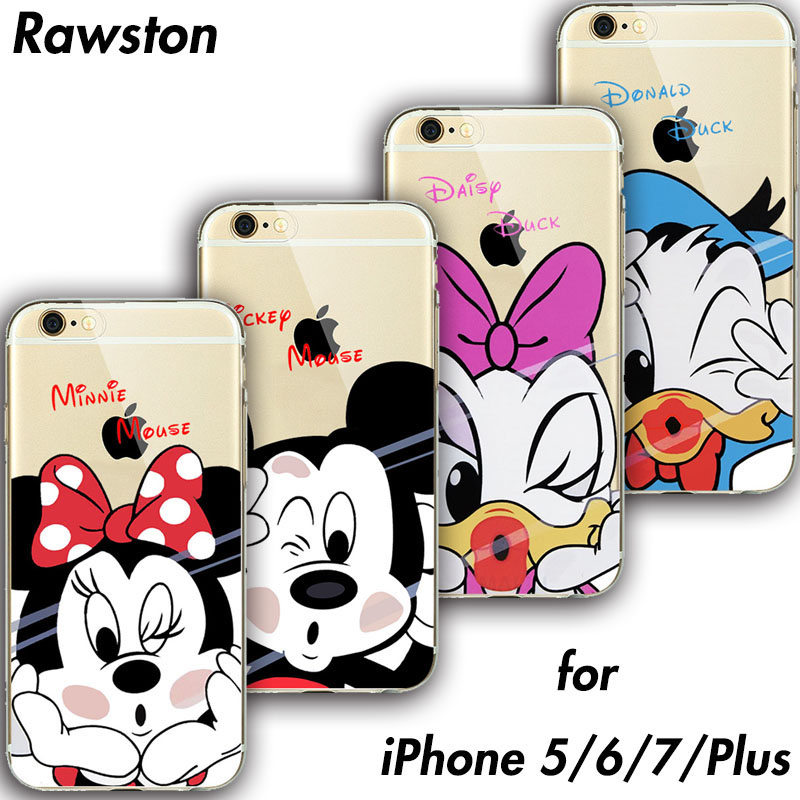Mickey Minnie Mouse Phone Cover for iPhone 7 Case Soft TPU Clear Rubber Silicone Micky C ...