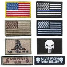 8ae8953497 USA flag Toppe e Stemmi Americano Sottile Linea Blu Della Polizia Bandiera  Tattico Militare Ricamato Toppe e Stemmi per i vestit.