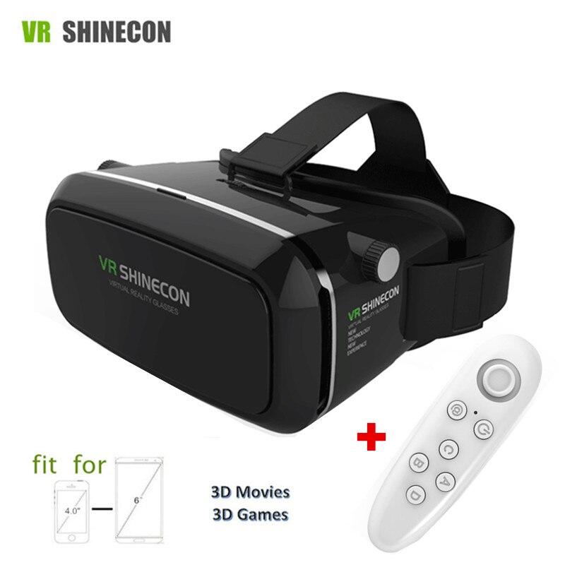 "VR Shinceon 3D <font><b>Virtual</b></font> <font><b>Reality</b></font> <font><b>Glasses</b></font> Box VR Headset Cardboard 2.0 <font><b>for</b></font> Samsung/iPhone <font><b>4.5</b></font> - 6.0""Smartphone+Bluetooth Controller"