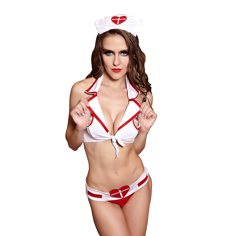 Sexy Lingerie Roleplay Fancy Hot Bedroom Nurse Costume -9428