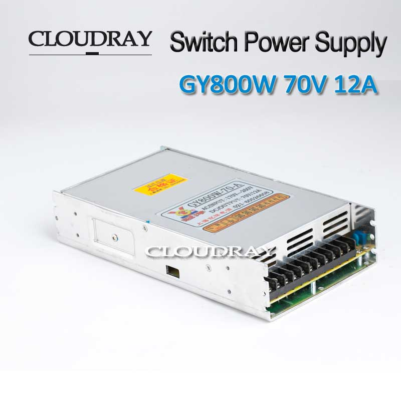Cloudray Switching Power Supply 12A 70V 800W For CNC Engraving 86 Stepper Motor Driver CNC Laser Engraving Cutting Machine dc36v 350w 9 7a switching power supply 115v 230v to stepper motor diy cnc router