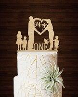 רטרו מערבי לב מספר אכיל קישוט החתונה Toppers עוגת חתונה מסיבה ראשונית מותאם אישית מעדיפה מקלחת הכלה עוגות