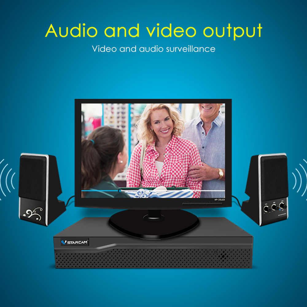 VStarcam HD 4-канального сетевого видеорегистратора 4CH аудио вход HDMI Сеть видео Регистраторы для ip камера