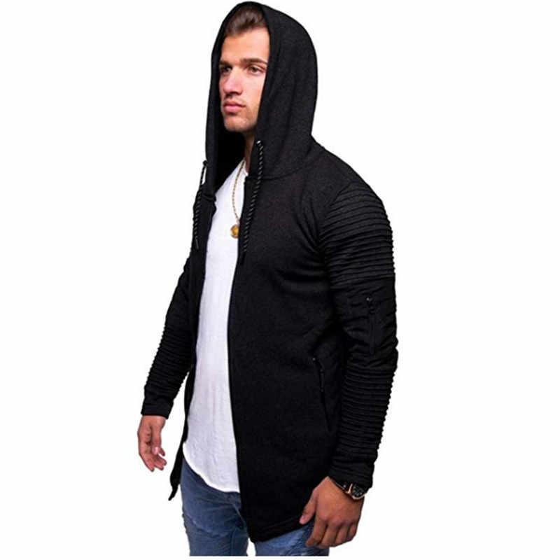 Мужская мода 2019 новая Толстовка с длинным рукавом Мужская шерстяная Толстовка спортивная куртка большой размер хлопок Повседневная куртка