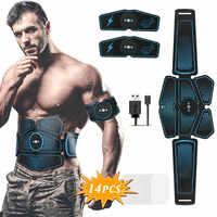 Estimulador Muscular ABS Hip entrenador EMS cinturón Abdominal Electrostimulator Muscular ejercicio equipo de gimnasio en casa de electroestimulación