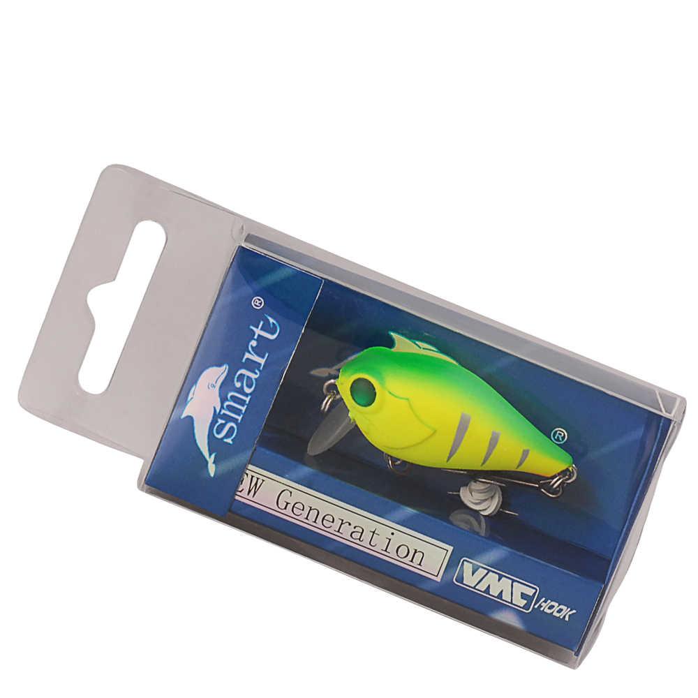 Smart Crankbait Fishing Lure 4cm 4.2g pływające 0.2m twarda przynęta VMC zestaw haczyków Isca sztuczne Pesca Luis Vuiton do połowów karpiowych
