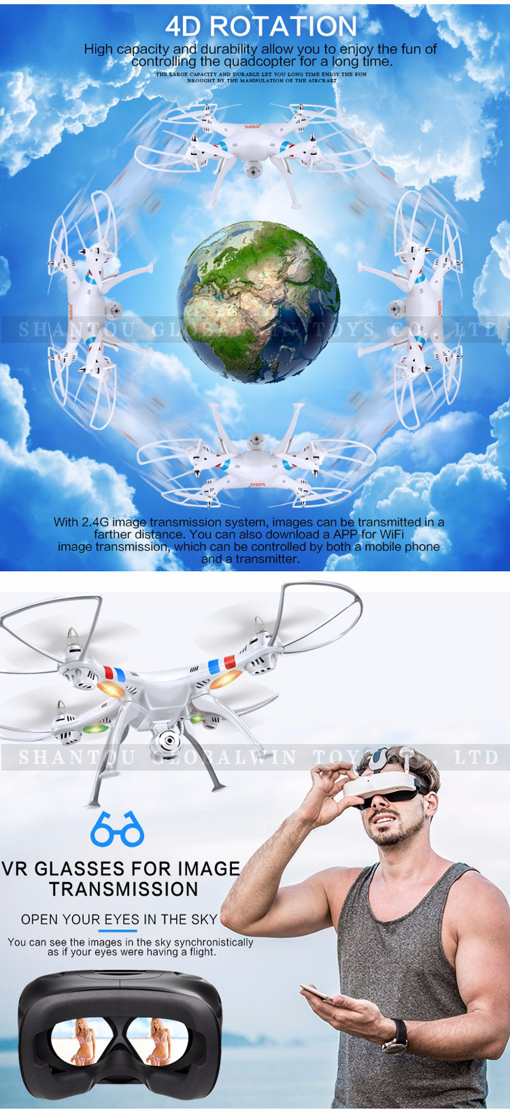 8Global Drone GW180 Dron with Camera WIFI HD FPV Hovering Quadrocopter Can Carry 4K Camera Drones