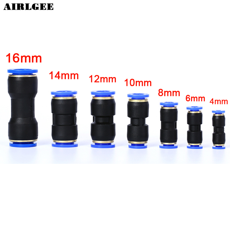 4mm 4 Way Cross Style Pneumatic Tube Push in Quick Fittings 2 Pcs