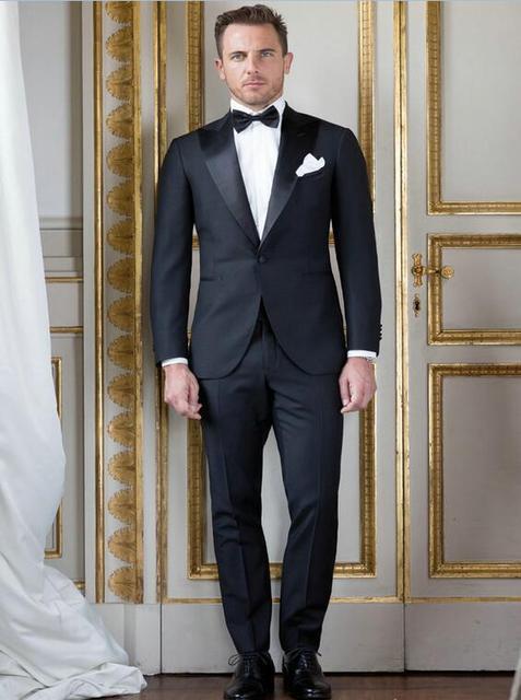 Negro hombres formales Blazers conjunto traje masculino