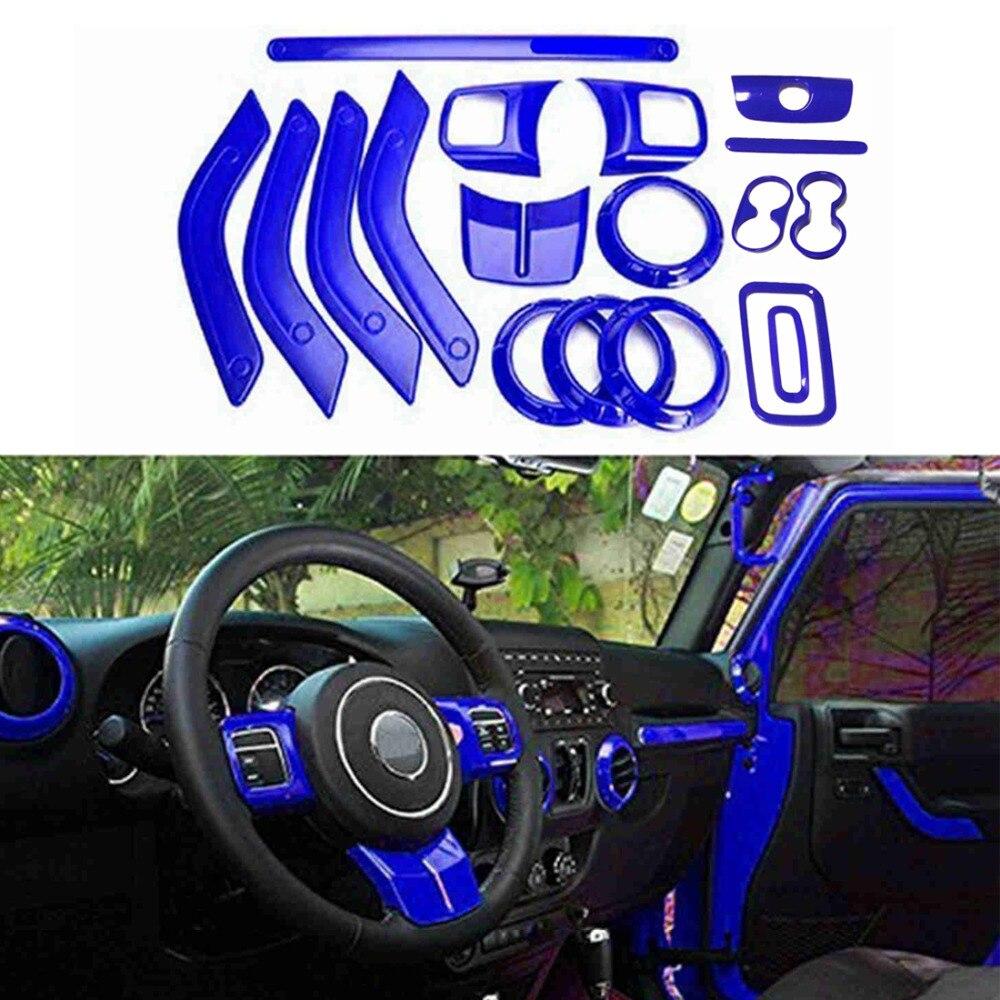 Chuang Qian 18Pcs Interior Accessories Door Handle cover , Air Conditioning Vent Trim For Jeep Wrangler Jk 2011-2017 rui chuang qy0231a 1 32 и трактор 1 20
