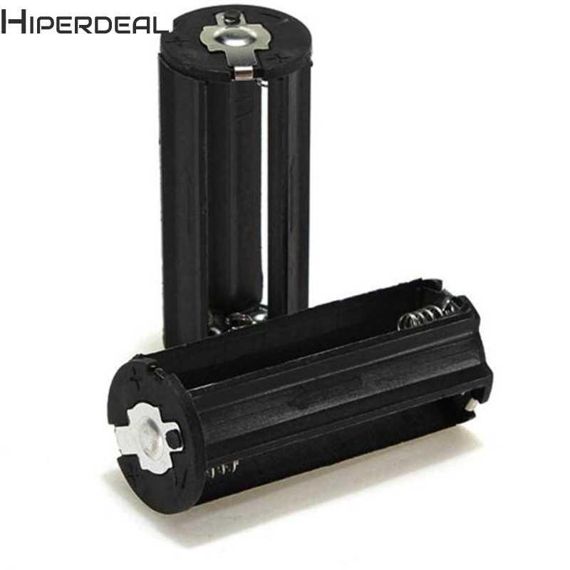 Hiperdeal円筒3 aaaプラスチックバッテリーホルダーアダプターケースボックス懐中電灯ランプpoverbank電源銀行Sep20