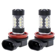 2pcs Car Auto Led Light Bulbs H8 H11 80W LED Fog Driving Head Lights Lamp Bulb Super White 6500K for Cars Vehicles