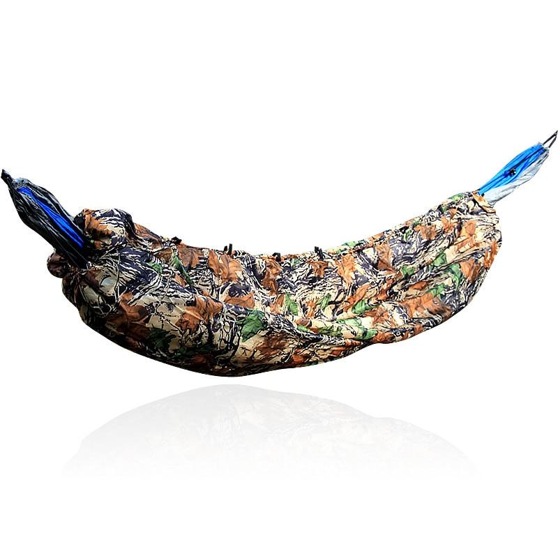 все цены на Hammock Sleep Bag Lightweight Full Length Hammock Underquilt Under Blanket 40 F to 68 F (5 C to 20 C) Camouflage & Army Green онлайн