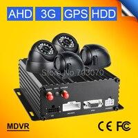 Free Shipping 720P 4CH AHD 3G GPS HDD Bus Mobile Dvr 4Pcs Night Vision Car Camera