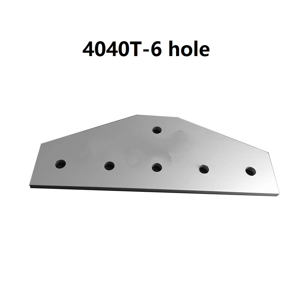 1pcs 4040 40x40 with 6 hole T type 90 Degree Joint Board Plate Corner Angle Bracket Connection Joint for Aluminum Profile цена