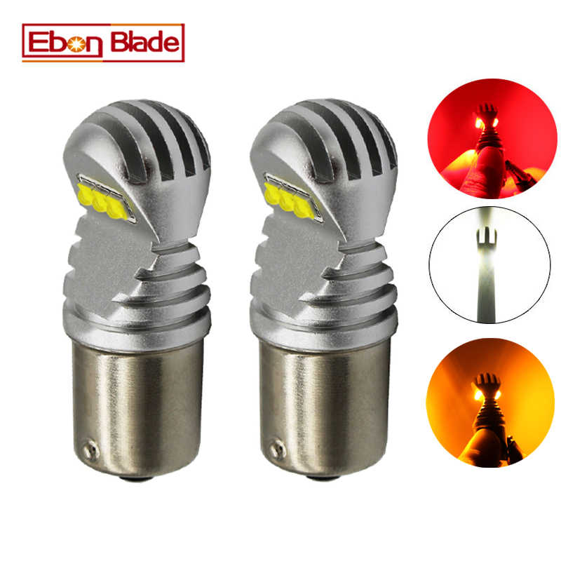 2 X 1156 BA15S P21W 1157 BAY15D P21/5W BAU15S PY21W Car LED Light Canbus Error Free Auto LED Bulb Lamp White Red Amber 12v 24v D