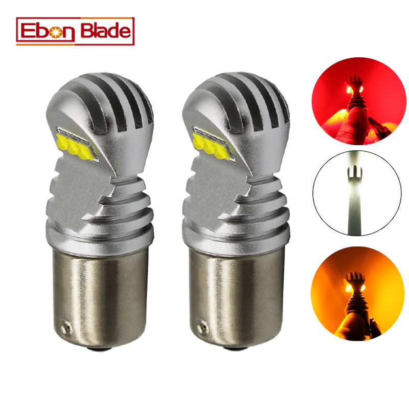 2 X 1156 BA15S P21W 1157 BAY15D P21/5W BAU15S <font><b>PY21W</b></font> Car <font><b>LED</b></font> Light <font><b>Canbus</b></font> Error Free Auto <font><b>LED</b></font> Bulb Lamp White Red Amber 12v 24v D image
