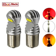 2X1156 BA15S P21W 1157 BAY15D P21/5W BAU15S PY21W voiture lumière LED Canbus sans erreur Auto LED ampoule lampe blanc rouge ambre 12v 24v D