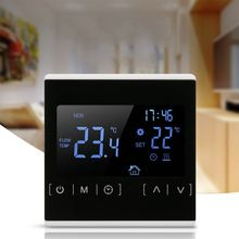 LCD Touch Screen Thermostat Electric Floor Heating System Water Heating Thermoregulator AC 85-240V Temperature Controller wifi thermostat water floor heating smart programmable temperature controller with lcd touch screen alarm clock external sensor