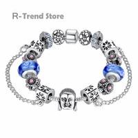 Face Charm Bracelet Women Crystal Bracelets Bangles For Female Diy Jewelry PA1842