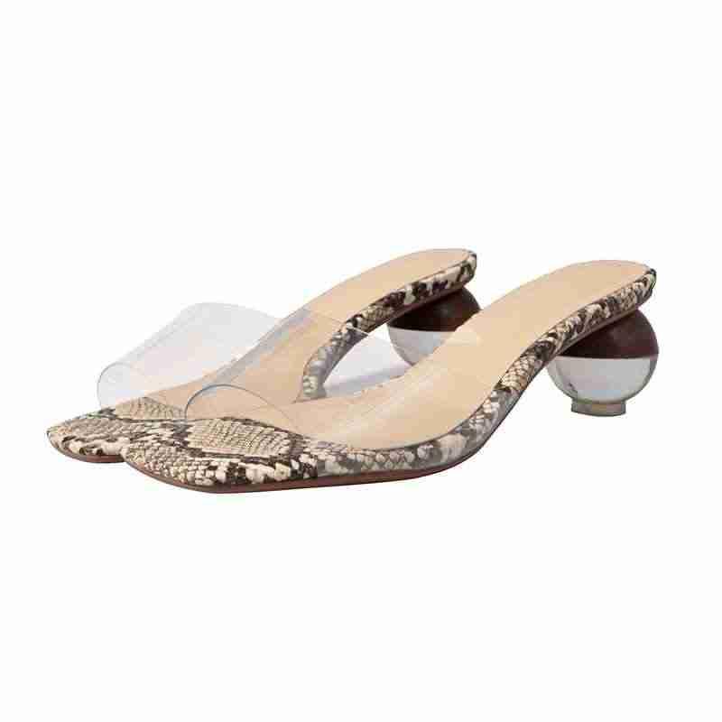 Krazing горшок; пластиковые ПВХ; натуральная кожа; круглый кристалл; Высокий каблук; Уличная обувь с открытым носком; Разноцветные босоножки в винтажном стиле; L11