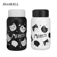 Hoomall Mini Cartoon Cats Thermos 280 350ml Insulated Cup Coffee Tea Thermos Mug Stainless Steel Thermoscup