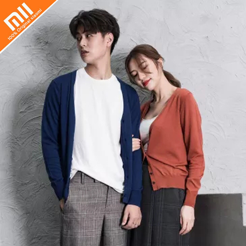Gentle Genuine Xiaomi Mijia Proease100% Merino Wool Cardigan Men And Women With The Spring And Autumn Models Customers First Video Games