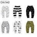 SK092 2017 Spring boy girl cartoon cotton trousers boy autumn tribe / Pineal / wolf children pants children clothing