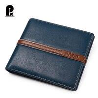2016 Pacento Men Wallets Luxury Leather Genuine Brand Famous Design Striped Blue Short Male Money Purse