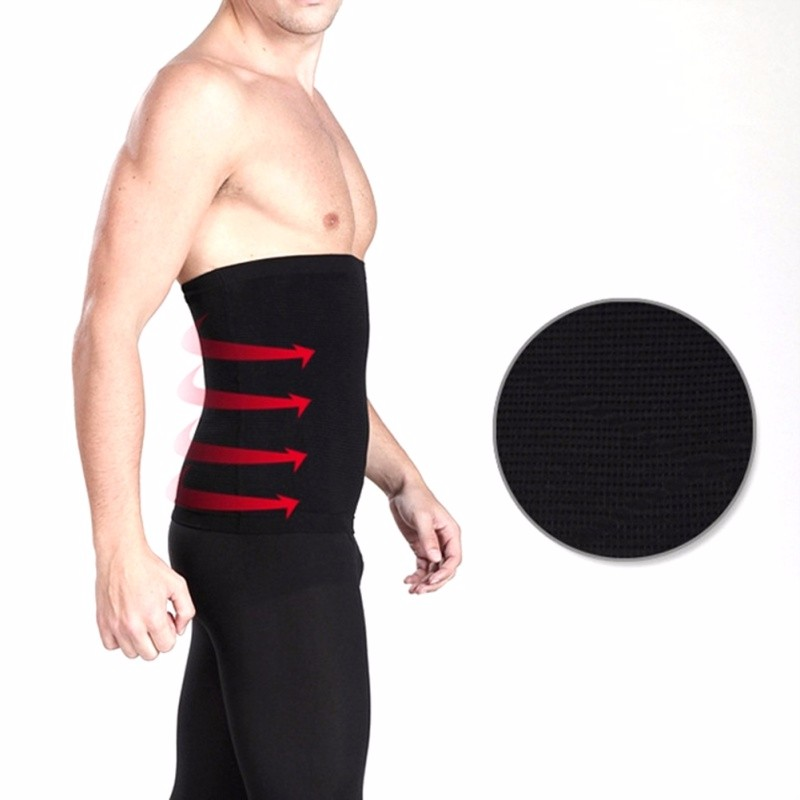 Men's Waist Belly Slimming Body Shaper Girdle Belt Cincher Underbust Corset 5