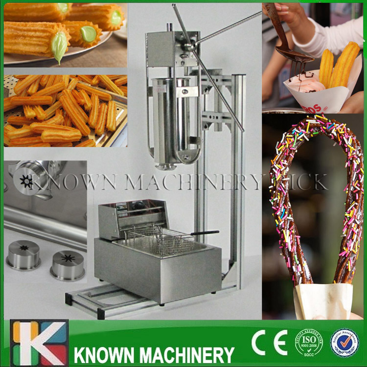 5L capacity of Spanish churros filler maker/making machine luxury churros machine with 6L electric fryer with free shipping commercial 5l churro maker machine including 6l fryer