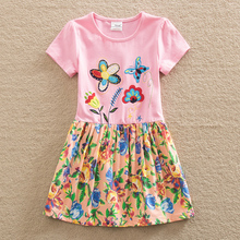 2016 wholesale BABY Girl Clothes short Sleeve Girls Dress Kids pretty Dresses A-line children clothing new fashion style H6250