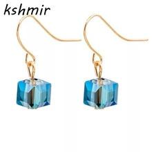 купить minimalist square glass bead mini restoring ancient ways of sugar stud earrings pendant earrings A pair of дешево