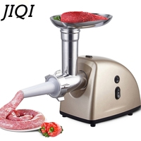 JIQI Electric Meat Grinder Cutter Stainless Steel Sausage Filling Machine Filler Stuffer Mincer Chopper Crusher Food Processor|Meat Grinders| |  -